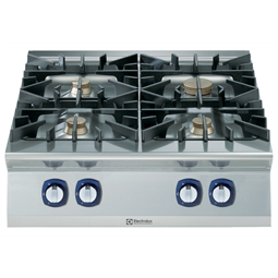 Modular Cooking Range Line900XP 4-Burner Gas Boiling Top with 3mm worktop and electric ignition