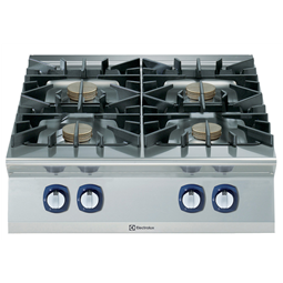 Modular Cooking Range Line900XP 4-Burner Gas Boiling Top with 3mm worktop and electric ignition, 10 kW
