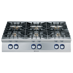 Modular Cooking Range Line900XP 6-Burner Gas Boiling Top with 3mm worktop and electric ignition