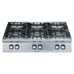 Modular Cooking Range Line900XP 6-Burner Gas Boiling Top with 3mm worktop and electric ignition, 10 kW