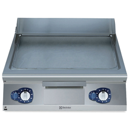 Modular Cooking Range Line700XP 800mm Gas Fry Top, Smooth Brushed Chrome Plate