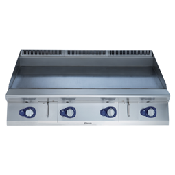 Modular Cooking Range Line900XP 1200mm Gas Fry Top HP, Smooth scratch resistant chromium Plate