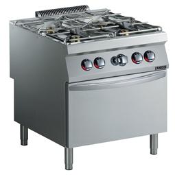 Modular Cooking Range Line<br>EVO900 4-Burner Gas Range 6kW on Gas Oven