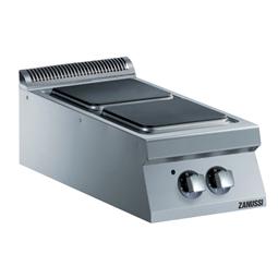 Modular Cooking<br>Elspis. Bänkmodell. 400mm. 2 fyrkantiga gjutjärnsplattor storlek 30x30cm (2x4kW).