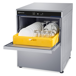 WarewashingUndercounter Dishwasher Insulated with pressure boiler, drain pump, rinse aid & detergent dispensers