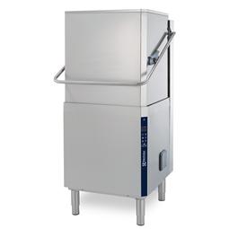 餐具洗涤揭盖式洗碗机,单层,手动提拉,大气恒压锅炉,80篮筐/小时,50Hz
