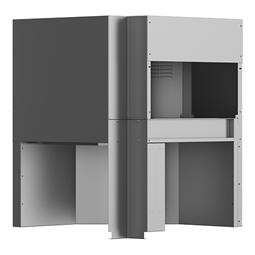 WarewashingCorner drying zone for single rinse Rack Type dishwasher