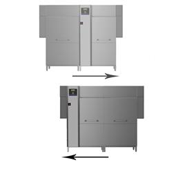 Warewashinggreen&clean dual rinse rack type dishwasher, 250racks/hour, electric, 50Hz