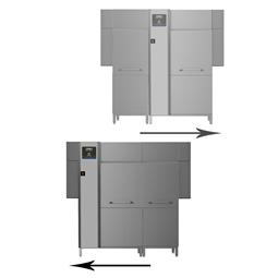 Warewashinggreen&clean dual rinse rack type dishwasher, 200racks/hour, electric, 50Hz