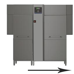 Warewashinggreen&clean dual rinse rack type dishwasher with Energy Saving Device, 200 racks/hour, electric,50Hz