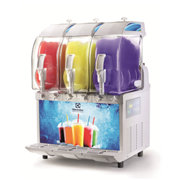 FrozenFrozen granita dispenser with 3 bowls, electronic control and lighted panel