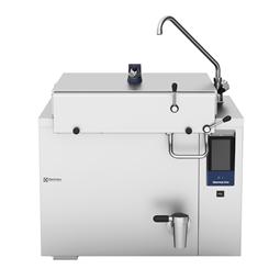 ThermalineElektro Rechteck-Druckkochkessel, 200lt für Hygienesockelaufstellung, freistehend mit Mischbatterie
