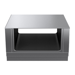 Modular Cooking Range Linethermaline 80 - 1000 mm Passthrough open base, 2 Sides (H2) - H=450