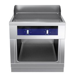 Modular Cooking Range Linethermaline 80 - Full Module Freestanding Electric Fry Top, 1 Side, H=700
