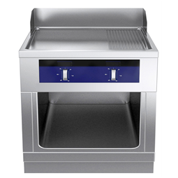 Modular Cooking Range Linethermaline 80 - Full Module Freestanding Electric Fry Top with Mixed Plate, 1 Side, H=700