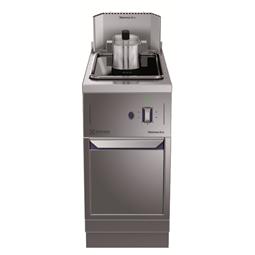 Modular Cooking Range Line14lt fritös, gas, betjänas från 1 sida med hög bakkant (utan ryggplåt), kroppshöjd 700 mm