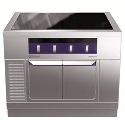 Modular Cooking<br>Hel häll induktion (zonfri) på underskåp med dörrar, 1000 mm, betjänas från 1 sida, kroppshöjd 700 m