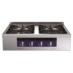 Modular Cooking<br>4-brännare gashäll, betjänas från 1 sida med hög bakkant