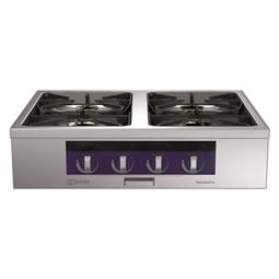 Modular Cooking<br>4-brännare gashäll, ecoflam, betjänas från 1 sida