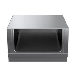 Modular Cooking Range Linethermaline 90 - 900 mm Open base, 1 Side (H2) - H=450
