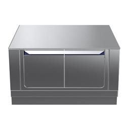 Modular Cooking Range Linethermaline 90 - 1000 mm Passthrough base, 4 doors, GN conform, 2 Sides (H2) - H=450