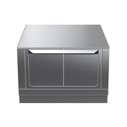 Modular Cooking Range Linethermaline 90 - 800 mm Passthrough base, 4 doors, GN conform, 2 Sides (H2) - H=450