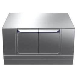 Modular Cooking Range Linethermaline 90 - 1200 mm Passthrough base, 4 doors, GN conform, 2 Sides (H2) - H=450