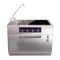 Modular Cooking<br>Hel häll induktion (zonfri) på statisk ugn, blandare till vänster, 1200 mm, betjänas från 1 sida, kr