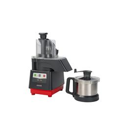 Tagliaverdure<br>Combinato cutter mixer/tagliaverdure con vasca in acciaio inox da 2,6 litri, 1 velocità da 1500 giri