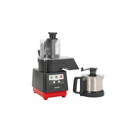 Tagliaverdure<br>Combinato cutter mixer/tagliaverdure con vasca in acciaio inox da 2,6 litri, velocità variabile da 5