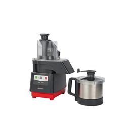 Tagliaverdure<br>Combinato cutter mixer/tagliaverdure con vasca in acciaio inox da 3,6 litri, 1 velocità da 1500 giri