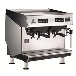 Sistema de caféCafetera espresso tradicional, 2 grupos, configuración para taza alta, boiler de 10,1 litros