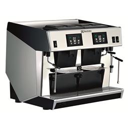 Sistema de caféCafetera espresso profesional de bolsitas, 2 grupo para 4 bolsitas/tazas, boiler de 10,1 litros