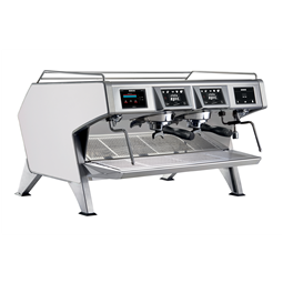 Distributeurs de cafés<br>Machine espresso traditionnelle multi-chaudières - Carrosserie Blanc - 2 groupes - 2 x 1.65L chaudiè