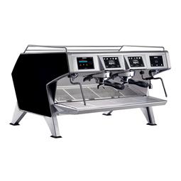 Distributeurs de cafés<br>Machine espresso traditionnelle multi-chaudières - Carrosserie Noir - 2 groupes - 2 x 1.65L chaudièr