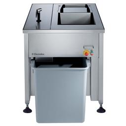 AvfallshanteringKompakt integrerad avfallsstation inkl. avvattnare. 300kg/tim. Fristående