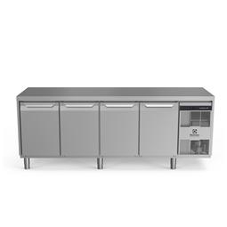 Digitális pult alattiecostore HP Premium hűtött munkaasztal - 590lt, 4 ajtó, jobb oldali hűtőegység