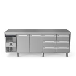 Digitális pult alattiecostore HP Premium hűtött munkaasztal - 590lt, 2 ajtó, 6x1/3 fiók