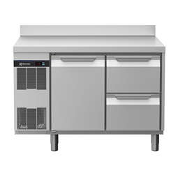 Table réfrigéréeecostore HP ConceptTable positive 1 porte 2x1/2 tiroirs adossée