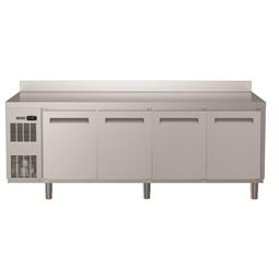 Koel- en vrieswerkbankenEcostore HP koelwerkbank - 590 lt, 4 deuren, bovenblad met opstaande rand, R134a