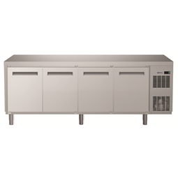 Digital UndercounterRefrigerated Counter - 4 Door (R134a) with cooling unit right