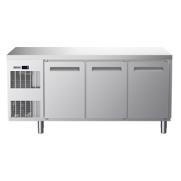 Koel- en vrieswerkbankenEcostore HP vrieswerkbank - 440 lt, 3 deuren, vlak bovenblad, R404a