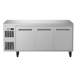 Digital UndercounterRefrigerated Counter - 3 Door (R290) with top and wheels, UK plug