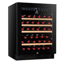 Digital Cabinets1 Glass Door Wine Refrigerator, 50 bottles, black