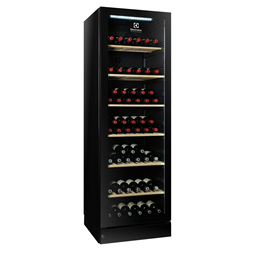 Digital Cabinets1 Glass Door Wine Refrigerator, 170 bottles, black with variable speed compressor