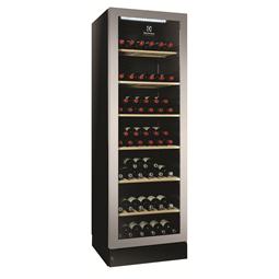 Digitální skříněVinotéka, prosklené dveře, kapacita 170 lahví, černá, nerezový rám dveří, kompresor s proměnlivým výkonem