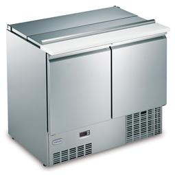 Tavoli refrigeratiSaladette - 250 lt 2 porte con coperchio e tagliere