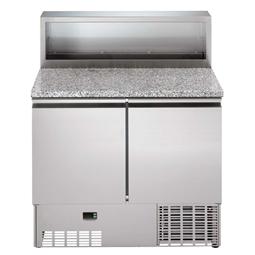Столы с электронным управлениемХолодильный стол 250 л, мраморная столешница, +2°С +10°С, н/сталь AISI 304