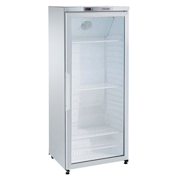 Digital Cabinets400lt Line Refrigerator, 1 Glass Door, White (R600a)