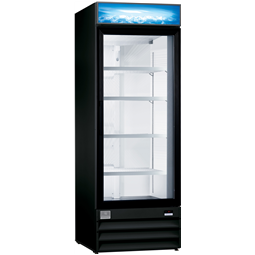 Digital Cabinets<br>Glass Door Merchandiser, 24 cu.ft, Black